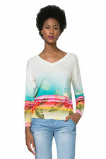 Desigual Cotton V Neck Jumpers & Cardigans for Women