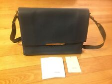 Celine Calfskin Leather Blade Flap Shoulder Bag, Blue, NWT