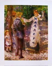 """Pierre Auguste RENOIR """"LA BALANCOIRE"""" Plate Signed Art Lithograph"""