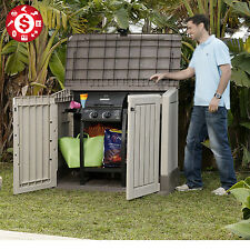 Storage Large Box Plastic Shed Outdoor Garden Sheds Tools Pool Patio 30 cu ft