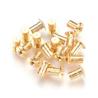 20pcs Real Gold Plated Brass Earnuts Column Safety Earring Backs Stopper 8x7mm