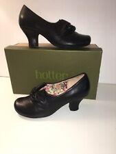Más caliente Negro Cuero Donna tacones ZAPATOS UK 4.5 Wide Fit