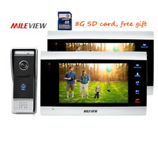 "DIY 720P AHD HD 7"" Color Video Intercom Door Phone 2 IR Recording Monitor Camera"