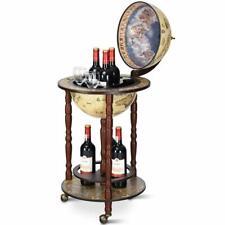 Mappamondo Bar con Ruote Mobili, Porta Liquori, con Stile retrò/Vintage