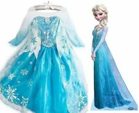 Frozen Elsa Anna Dresses Kids Costume Disney Princess Girls Outfit Child Queen