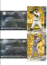 AARON JUDGE & CODY BELLINGER 2017 TOPPS NOW AL & NL ROY OSB-1 OSB-2 [ 2 CARDS ]