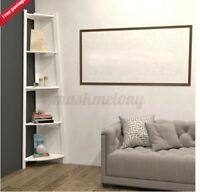 5-Tier Stylish Corner Shelf Wall Shelves Display Rack Home Decor Bookcase