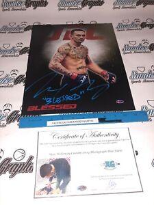 MAX HOLLOWAY MMA UFC SIGNED AUTOGRAPHED 11X14 PHOTOGRAPH PHOTO-EXACT PROOF COA