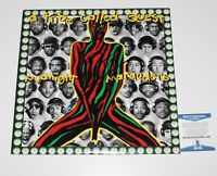 Q-TIP SIGNED A TRIBE CALLED QUEST 'MIDNIGHT MARAUDERS' VINYL RECORD LP BAS COA