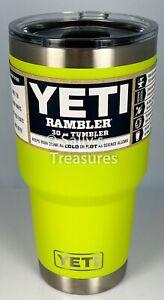 YETI Rambler Tumbler 30oz CHARTREUSE. Retired New