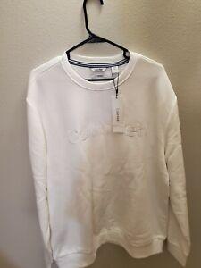 Men's Calvin Klein All White Longsleeve Pullover Sweatshirt XL
