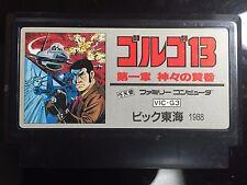 GOLGO 13 Nintendo Famicom FC/NES Japan