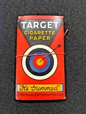 VINTAGE TARGET Cigarette PAPER 1931 BROWN & WILLIAMSON TOBACCO CORP RARE