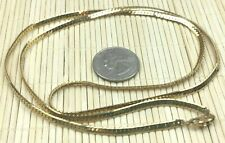 Fashion Necklace Goldtone Simple Herringbone Metal Chain