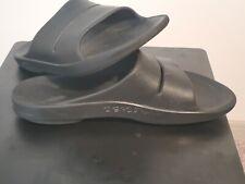Oofos Ooahh Unisex Slides Post Workout Sandals Black, Men 14 ~ Women 16