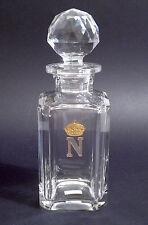 NAPOLEON CUT GLASS CRYSTAL DECANTER COGNAC - SIGNED  VAL ST. LAMBERT - 1960 ca.