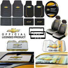 Chevy All Weather Floor Mats / Seat Covers / Steering Wheel Cover / Sun Shade