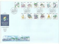 Hong Kong FDC 1999 Definitive Stamps (12 low-valued stamps)