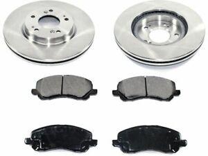 Front Pronto Brake Pad and Rotor Kit fits Dodge Caliber 2007-2012 34BXBD