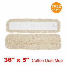 "1pc 36"" x 5"" SunnyCare #25363-1pc Natural Cotton Dust Mop"