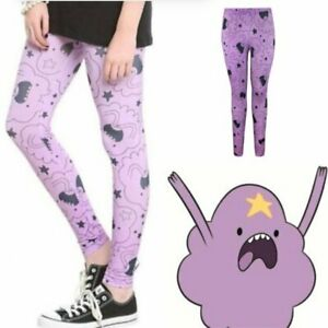 ADVENTURE TIME Oh My Glob! Lumpy Space Princess Leggings - SIZE LARGE [WC-203]