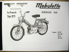 Mobylette/Moped/50L/50S/50VL/50VS/In French/ Parts Book With Exploded Diagrams