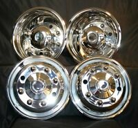 "19.5"" FORD F650 6.75"" 8 LUG WHEEL SIMULATOR RIM LINER HUBCAP SET OF 4 COVERS"