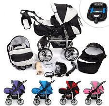 Travel System 5in1 Kombi Kinderwagen Sportwagen Kamel + Babyschale + Autobasis