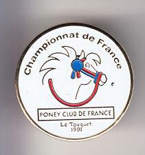 RARE PINS PIN'S .. SPORT CHEVAL HORSE HIPPISME PONEY CLUB FRANCE LE TOUQUET ~BU