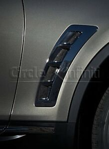 New OEM Infiniti FX35 FX50 QX70 2 PC Fender Duct Chrome Fin Trim