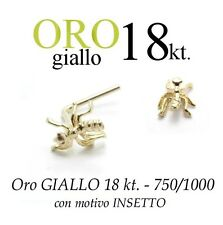 Piercing naso nose ORO GIALLO 18kt. con INSETTO formica yellow GOLD with INSECT