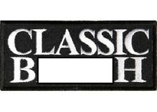 CLASSIC B-WORD EMBROIDERED IRON ON BIKER PATCH