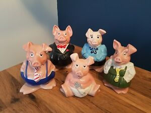 Natwest Piggy Banks Money Boxes Complete Family Full Set