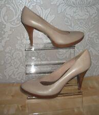 NEW Bronx taupe beige leather 3.75 inch heels UK 8 EUR 41 FREE UK POSTAGE