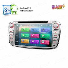 """7"""" Car DVD GPS DAB+ Octa-Core Android 6.0 1080P 4G For FORD FOCUS MONDEO C/S MAX"""