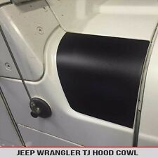 Hood Cowl Matte Black Decal Fits: Jeep Wrangler TJ 97-06 Free Shipping!