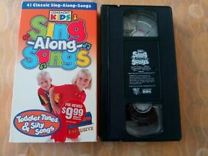BLOCKBUSTER Exclusive VHS Cedarmont Kids Sing Along Songs: Toddler Tunes & Silly