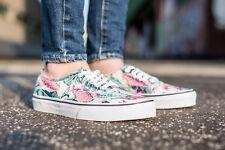 VANS Authentic (Tropical) Multi True White Classic Shoes WOMEN'S SIZE 9
