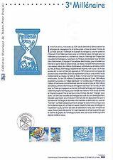 Document Philatélique Timbre 1er Jour : 09/11/ 2000 - 3ème Millénaire