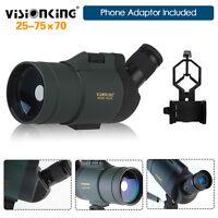 Visionking 25-75x70 Zoom Spotting Scope Bak4 Fully Multi-Coated w/Adaptor Case
