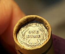 New listing 1860 Indian Head/D Dime Tail Ends On Roll Of Moms Estate 50 Old Pennies #6601