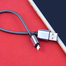 Braided Aluminium Alloy Lightning USB Charger Charging Cable For iPhone BLACK