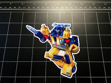 Transformers G1 Sunstreaker box art vinyl decal sticker Autobot toy 1980's