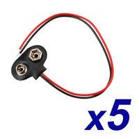 X5 Conectores bateria adaptador pila 9V Battery Arduino, prototipos, proyectos