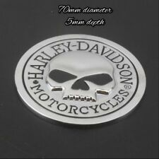 3D metal skull bone motorcycle badge sticker emblem decals for harley Davidson