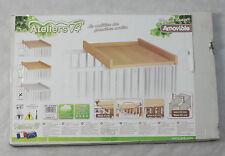 Ateliers T4 Wickelaufsatz für Babybett  weiß  (E49Z8)