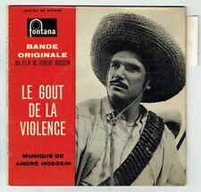 """LE GOUT DE LA VIOLENCE Film Vinyl 45T 7"""" EP R. HOSSEIN -FONTANA 460783 Languette"""