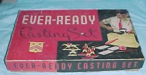 """EMPTY BOX EVER-READY  LEAD TOY SOLDIER MOLD KIT 1950 - 64 10.25 X 16.25 X 2.5 """""""