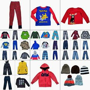 Lot 44 Boys Fall Winter Clothing Bundle Size Medium 7-8 Warm Tops Pants Outfits