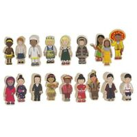 CHILDREN MULTICULTURAL Costumes WOODEN Dolls Educational DIVERSE Inclusive TOY